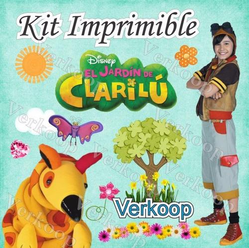 kit imprimible el jardin de clarilu invitaciones tarjetas