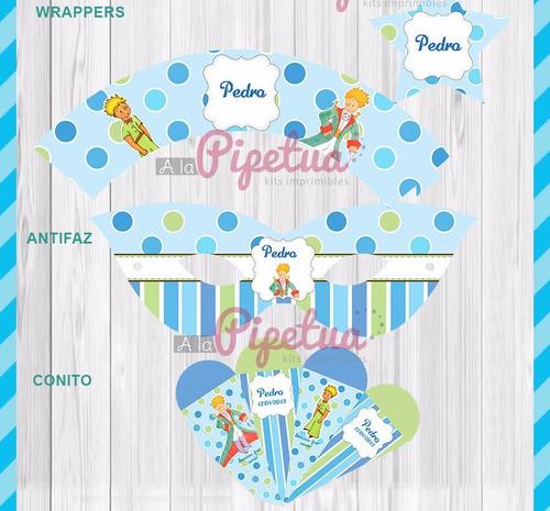 kit imprimible el principito candy bar invitaciones cajitas