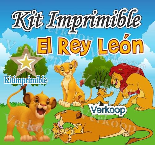 kit imprimible el rey leon candy bar  fiesta promo