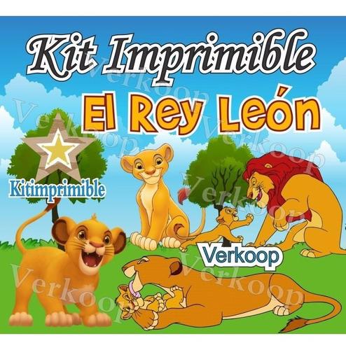 kit imprimible el rey leon candy bar personaliza fiesta