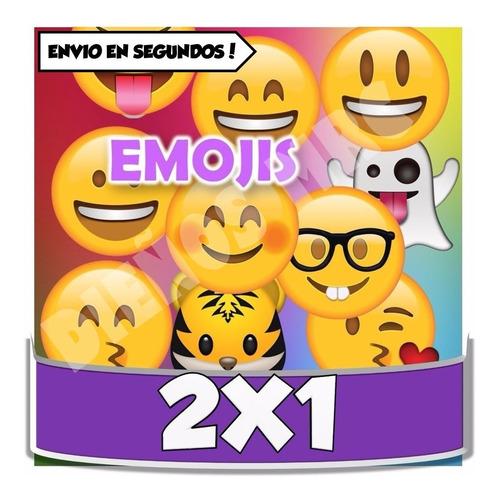kit imprimible emojis emoticon cotillon + candybar cumple2x1