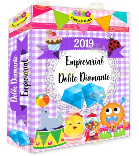 kit imprimible empresarial doble diamante +calendarios 2019!