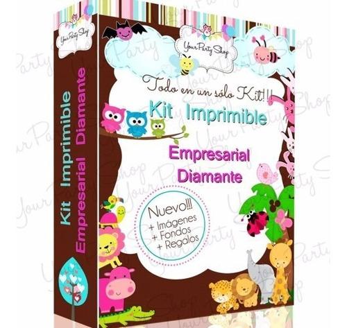 kit imprimible empresarial oro + candy bar + 36 kits nuevo 1