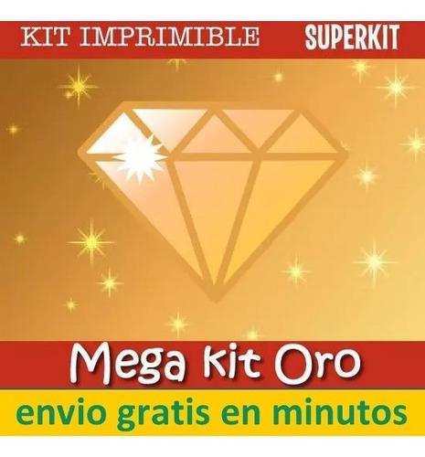kit imprimible empresarial oro diamante