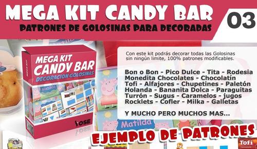 kit imprimible empresarial super gold tarjetas candy bar 2