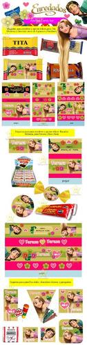 kit imprimible enredados rapunzel cumples candy bar cod03