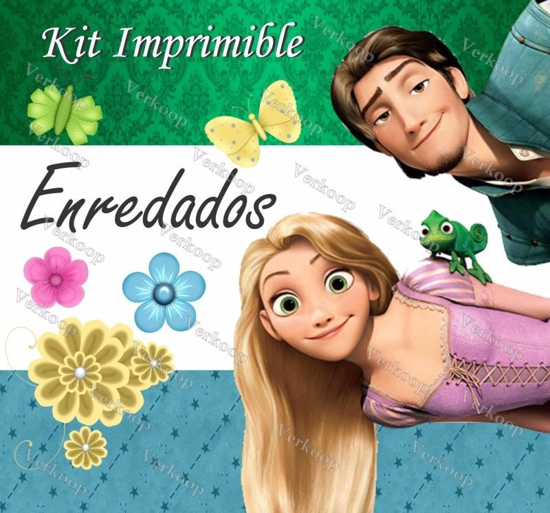 Kit Imprimible Enredados Rapunzel Tangled Invitaciones