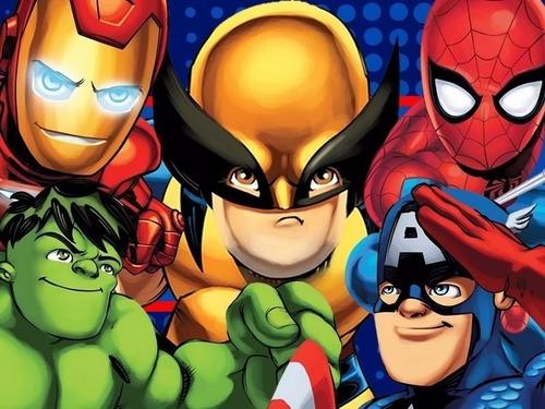 kit imprimible escuadrón de super héroes cumpleaños fiesta