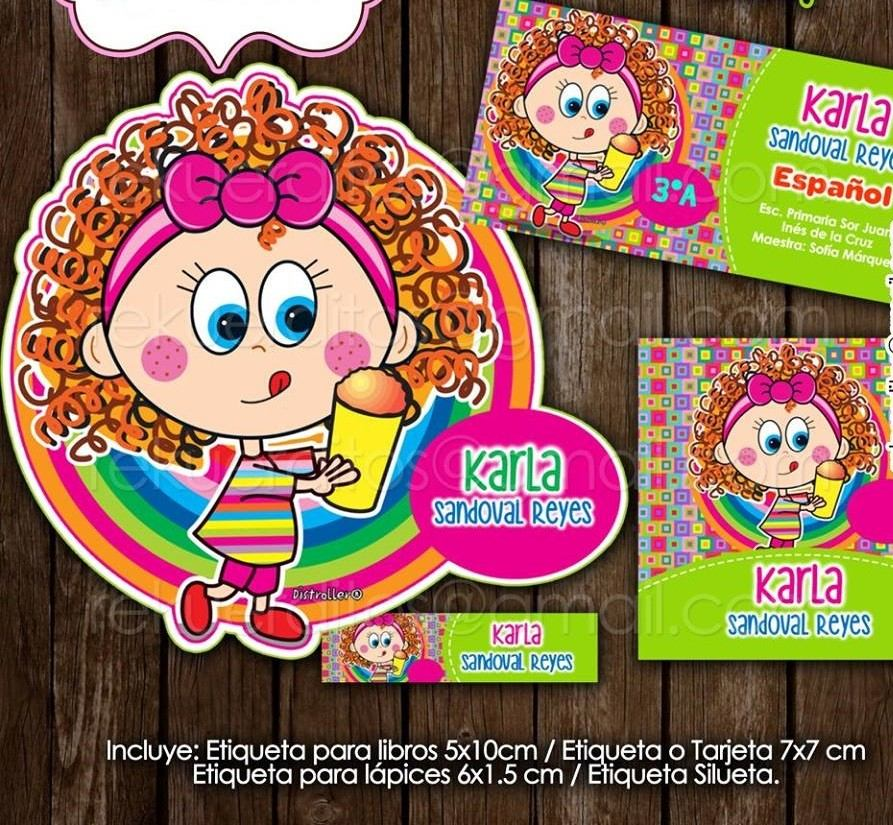 kit imprimible etiquetas escolares chamoy distroller