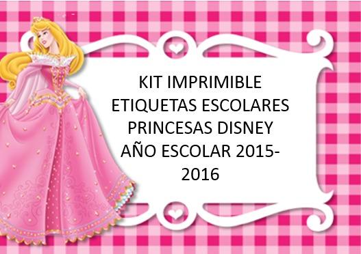 Kit Imprimible Etiquetas Escolares Con Princesas Walt Disney - Bs. 0 ...