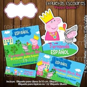 Escolares Etiquetas Kit Imprimible Pig Peppa BxQrWdCoe