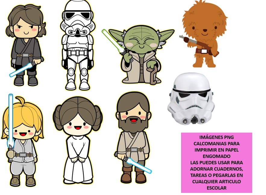 Kit Imprimible Etiquetas Escolares Star Wars Nuevo - Bs. 0,35 en ...