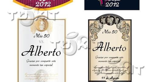 kit imprimible etiquetas vinos personaliza cumples
