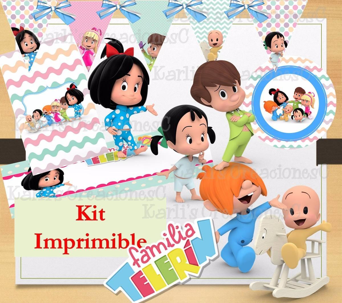 kit imprimible familia telerin 30 00 en mercado libre