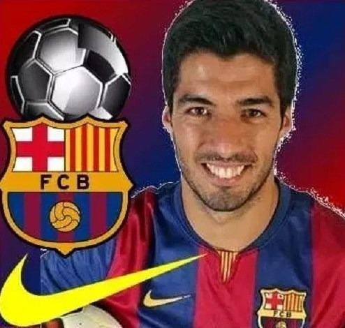 kit imprimible fcb barcelona luis suarez futbol fiesta 3x1
