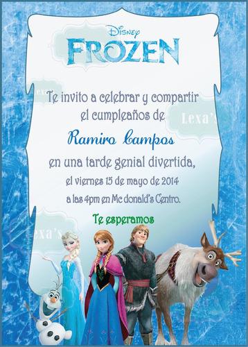 kit imprimible fiesta frozen pdf personalizado