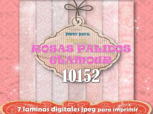 kit imprimible fondos decoupage rosados làminas digitales