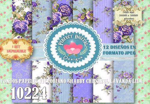 kit imprimible fondos laminas azul lavanda p/ servilletas ++