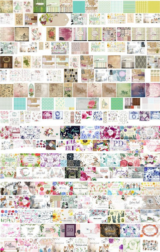 kit imprimible fondos papeles digitales 6000 scrap