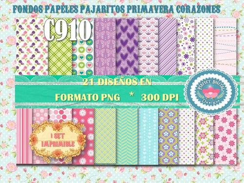 kit imprimible fondos papeles nena niña lilas rosados verdes