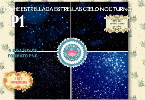 kit imprimible fondos papeles universo via lactea estrellas