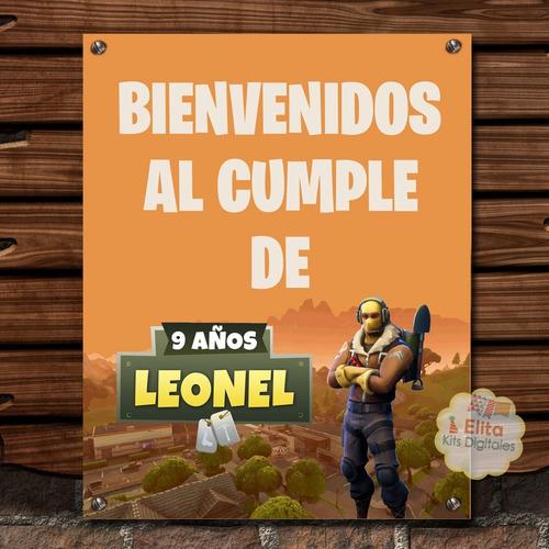 kit imprimible fortnite cumpleaños juego fornite