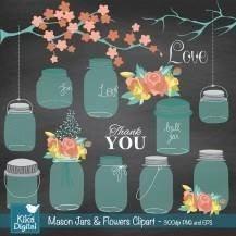 kit imprimible frascos decorados imagenes clipart