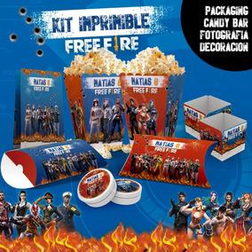 Kit Imprimible Free Fire Candy Bar Deco Cumple
