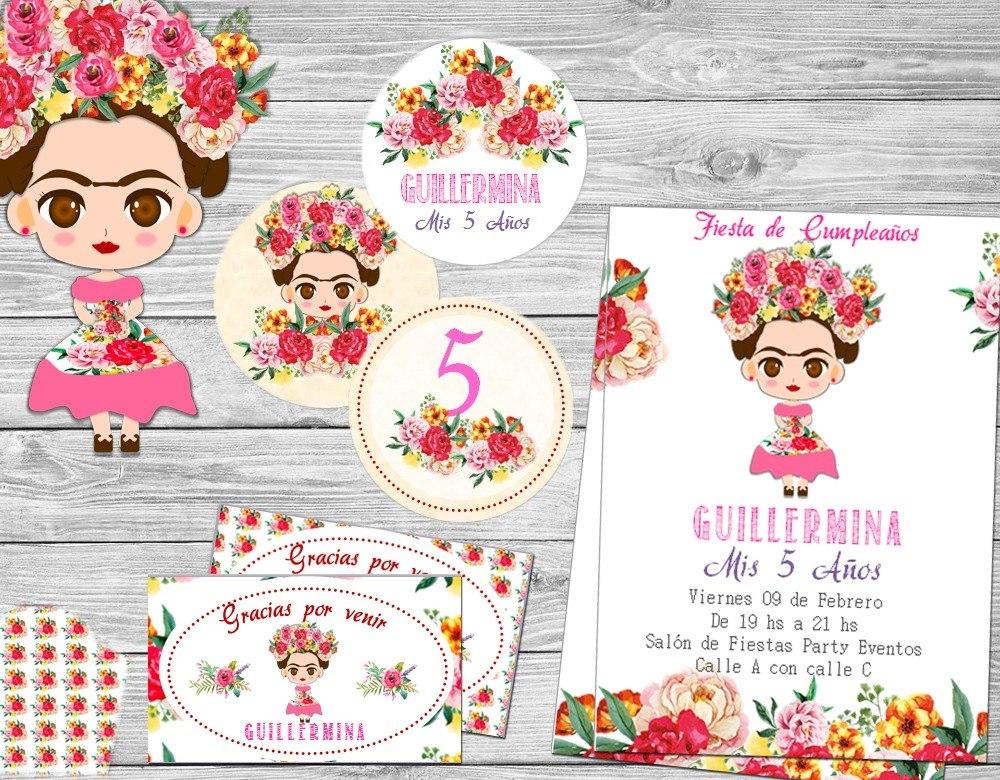 Imagenes De Frida Kahlo Para Imprimir: Kit Imprimible Frida Kahlo Candy Invitaciones Cumpleaños