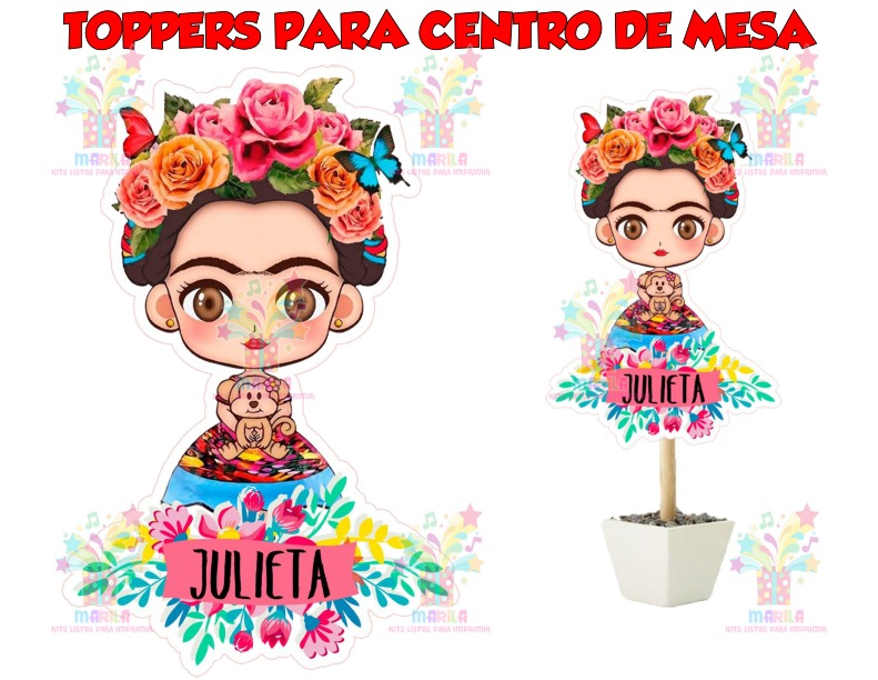 Imagenes De Frida Kahlo Para Imprimir: Kit Imprimible Frida