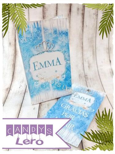 kit imprimible frozen elsa corona candy bar deco pinterest