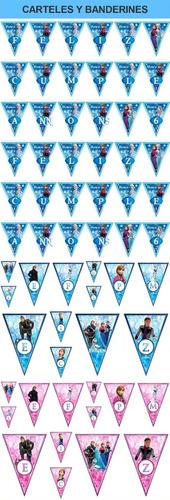 kit imprimible frozen full fiesta 3x1