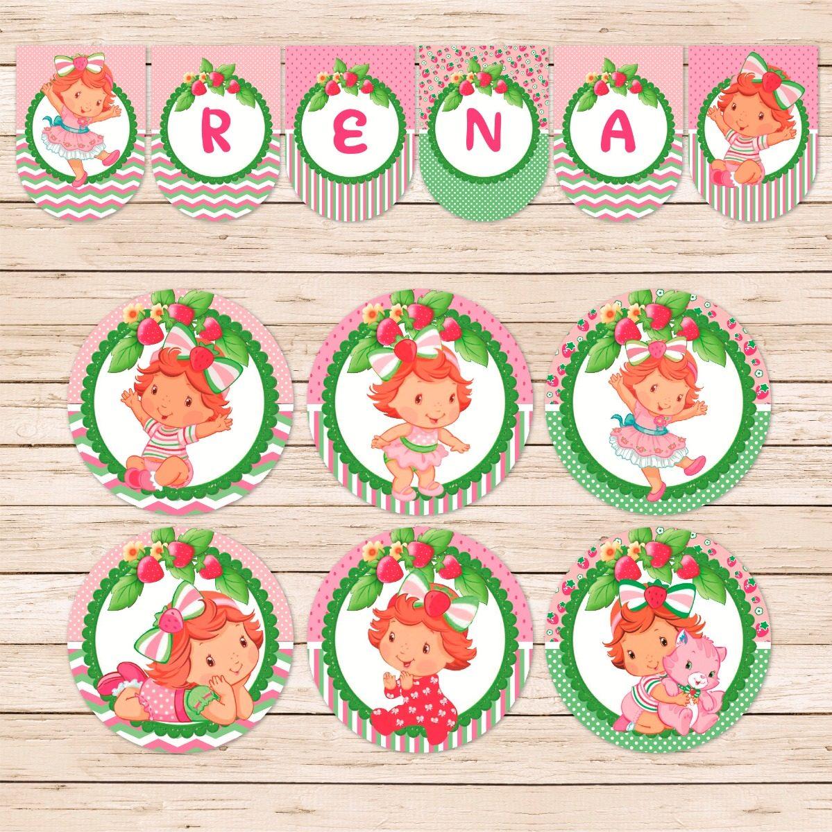 49937f3e8 kit imprimible frutillita bebe strawberry cumpleaños candy. Cargando zoom.