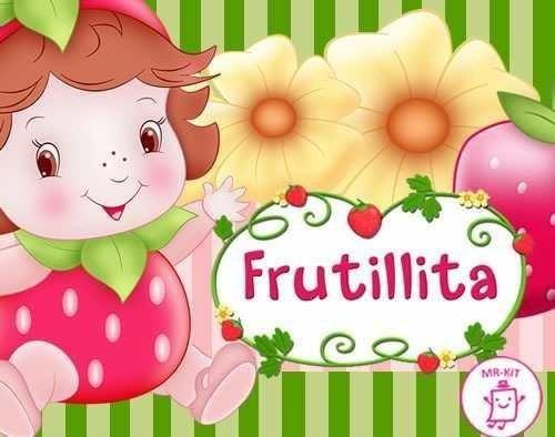 kit imprimible frutillita diseñá tarjetas cotillon y mas #1