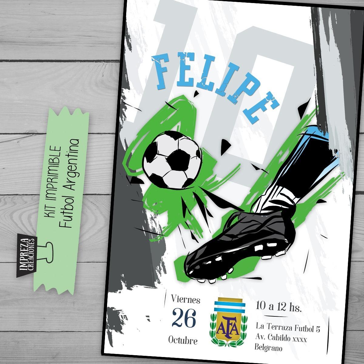 Kit Imprimible Futbol Argentina