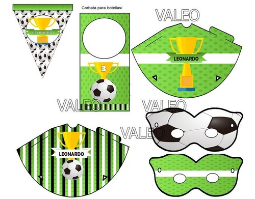 kit imprimible futbol cotillón candy bar nuevo
