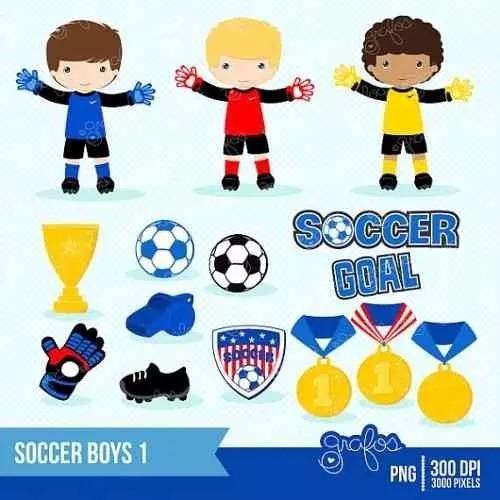 kit imprimible futbol imagenes clipart