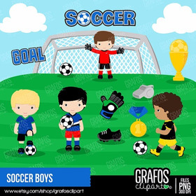 Kit Imprimible Futbol Imagenes Clipart B030