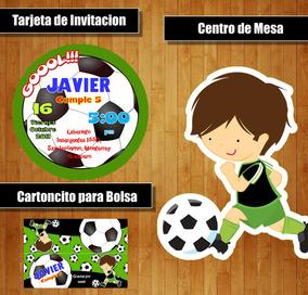 Kit Imprimible Futbol Niño Soccer Candy Bar Cotillon
