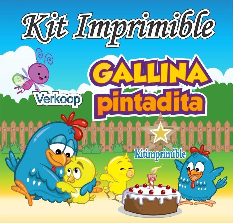 Kit Imprimible Gallina Pintadita Candy Bar Fiesta 220 00 En