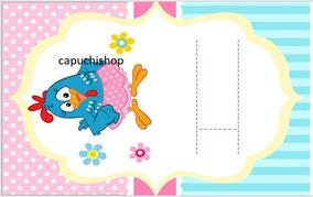 Kit Imprimible Gallina Pintadita Invitación Candy Etiquetas