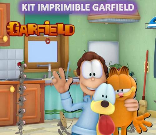kit imprimible garfield