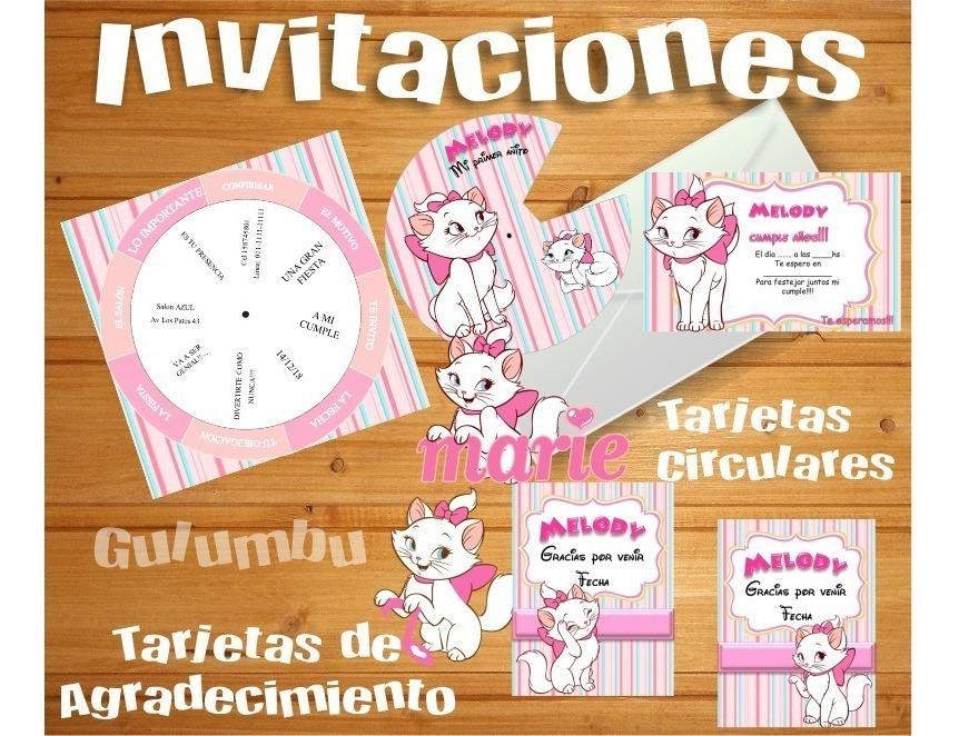 Kit Imprimible Gata Marie Aristogatos Gatita Cat S268