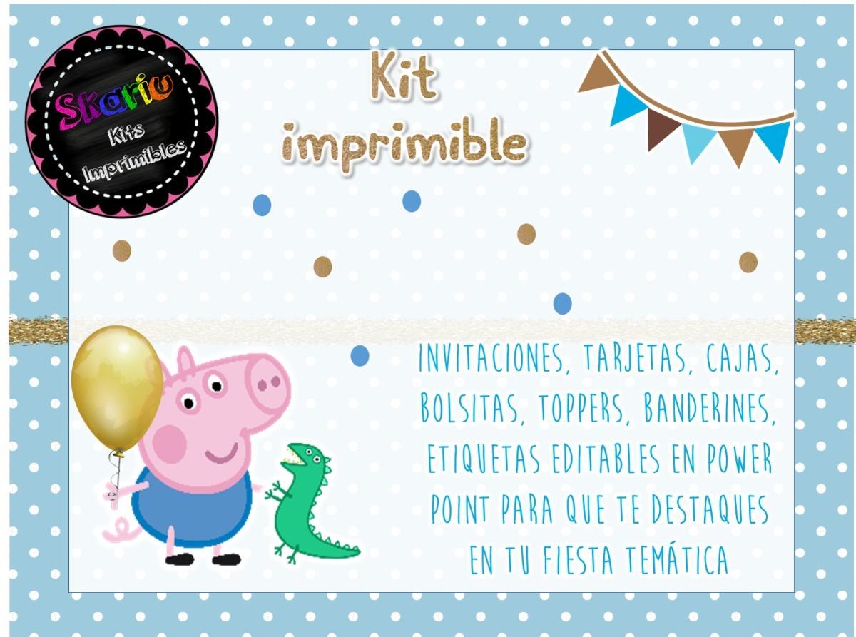 Kit Imprimible George Pig Personalizado Pdf