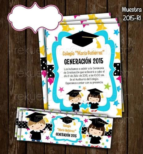 kit imprimible graduación niño niña oferta preescolar kinder