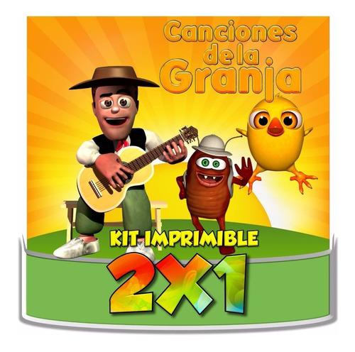kit imprimible granja de zenon canciones de la granja 2x1
