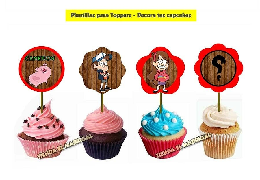 Kit Imprimible Gravity Falls Cotillon Y Candy Bar Promo 2x1
