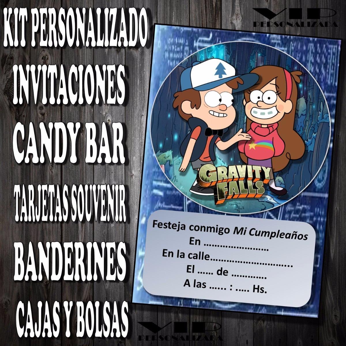 Kit Imprimible Gravity Falls Cumpleaños Bautismos