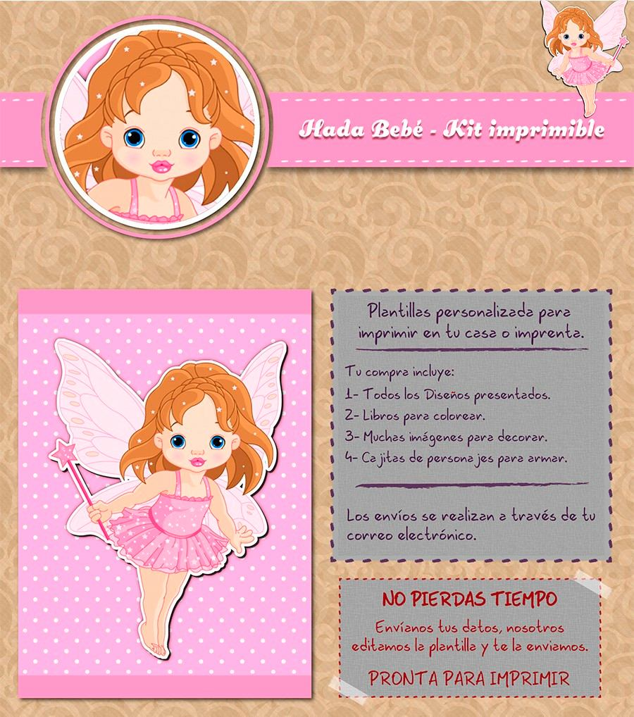 Kit Imprimible Hada Bebé Personalizado Candy Bar - $ 500,00 en ...