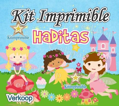 kit imprimible haditas - hadas + candy bar fiesta